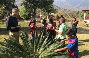 Nick Whittingham with kids from Guatemala ODIM proyect