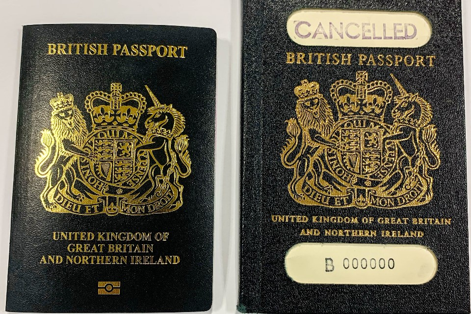 Iconic blue passports return next month