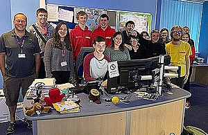 Group image of the Chatterbox Group in Bournemouth Police Station