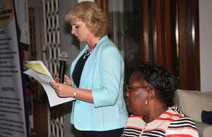 Her Excellency Alison Blackburne and Honorable Rebecca Kadaga