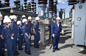 teenagers with hardhats at national grid