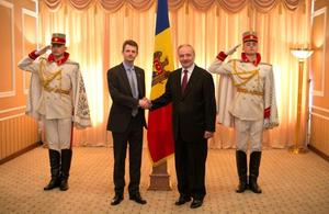 British Ambassador to Moldova Mr Phil Batson presents his credentials