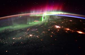 Satellite image of Canada at night