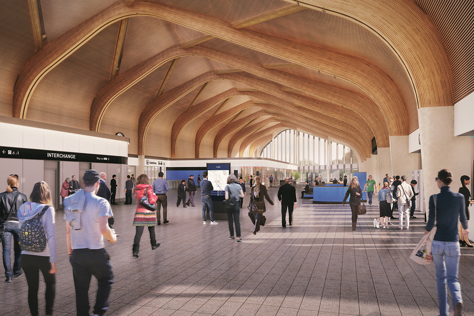 CGI showing the interior of the station