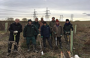 Some of the officers who took part in the tree planting.