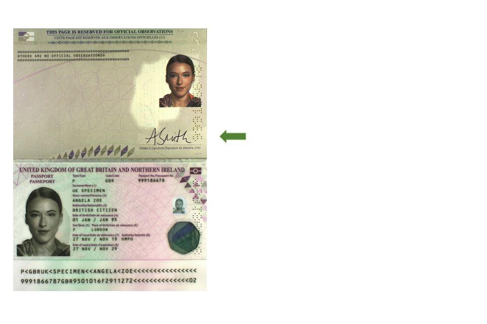 Signing Your New Passport Gov Uk