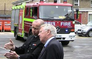 Bob Neill at Bromley fire station