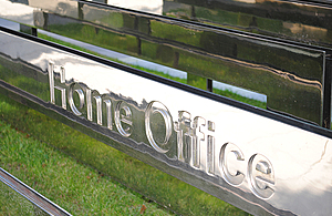 The Home Office sign.