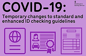 Graphic showing various icons of ID documents.