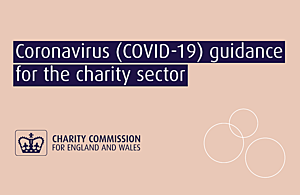 Text saying 'Coronavirus (COVID-19) guidance for the charity sector'.