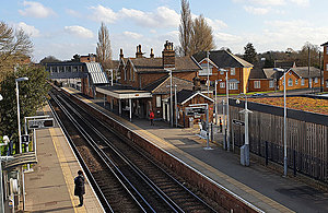 Ewell West railway station.