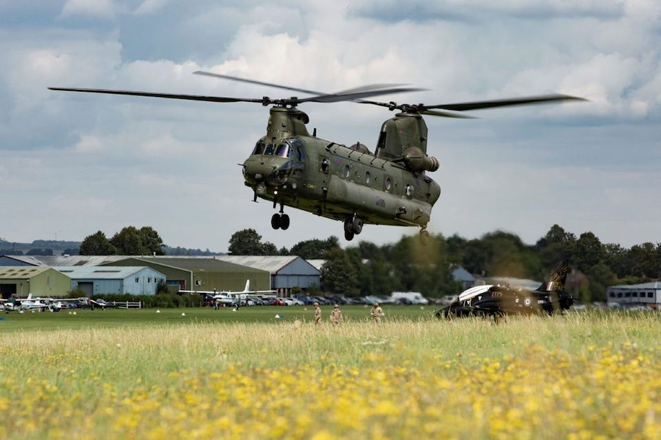 A Royal Air Force Chinook helicopter