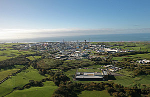 aerial of the Sellafield site