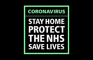 Stay home, protect the NHS, save lives graphic