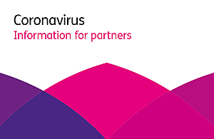 Graphic with words Coronavirus, inforamtion for partners