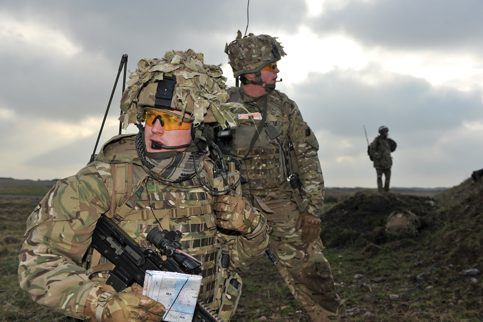 British soldiers with the latest personal kit