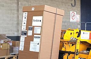 Penlon ventilator being delivered