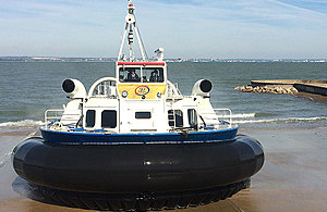 Hovercraft at the Isle of Wight.