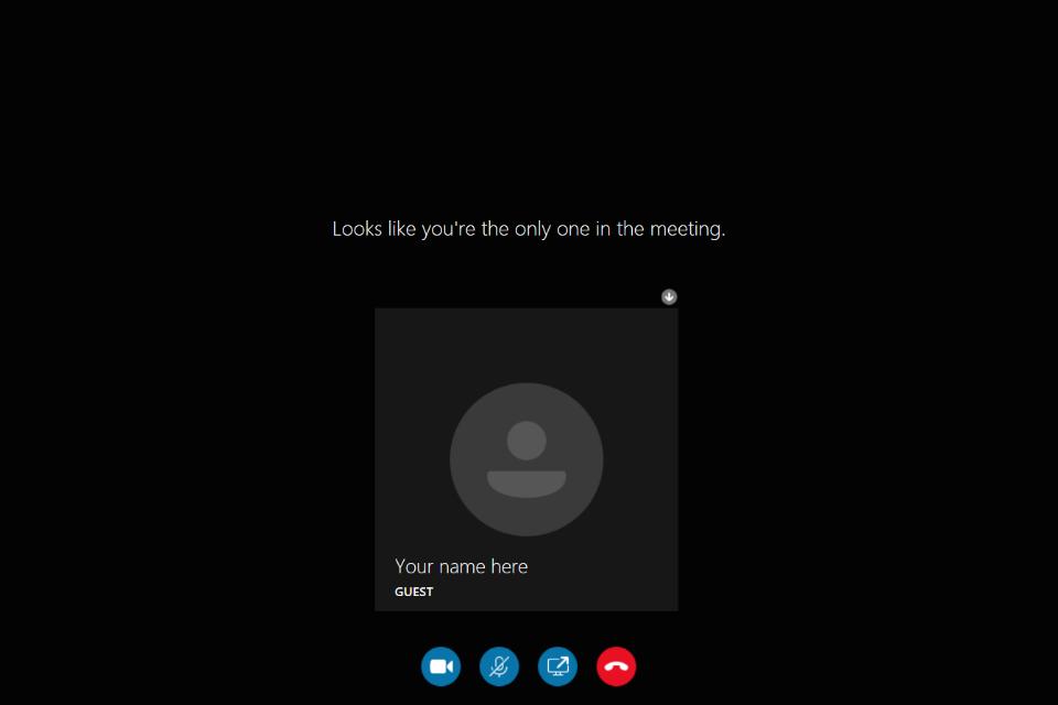 image shows the Skype Main Menu