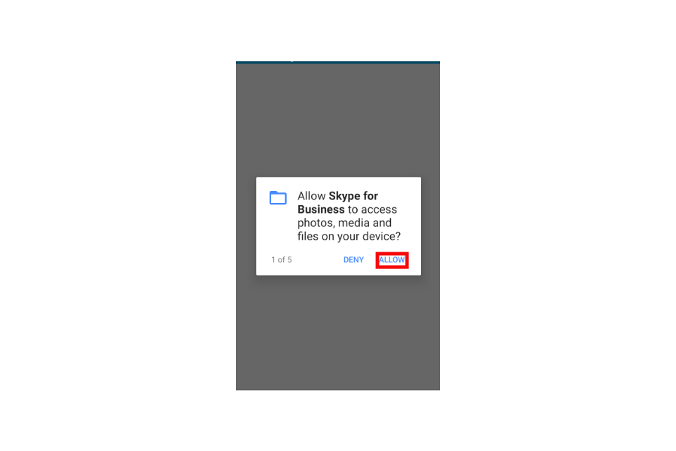 image shows an access request pop-up