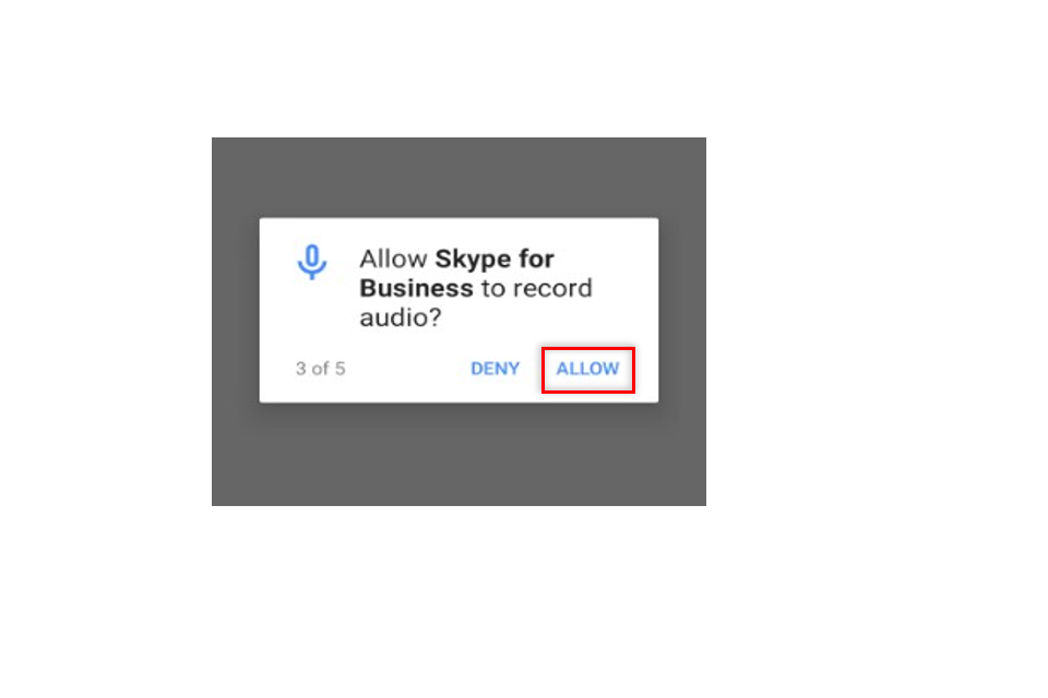 image shows an access request pop up