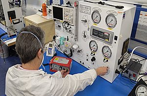 A Smiths paraPAC device being manufactured.