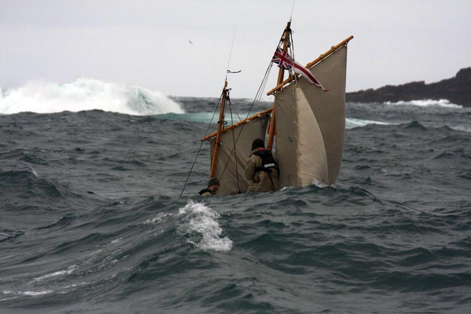 Waves crash over the Alexandra