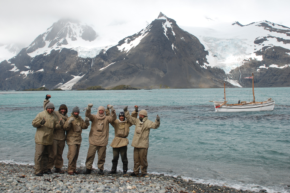 The 6 members of the 2013 Shackleton Epic expedition