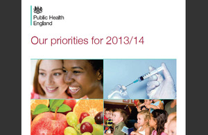 Cover of PHE priorities 2013 to 2014 document