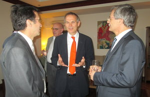 Leigh Turner with business people from Kyrgyzstan at the reception