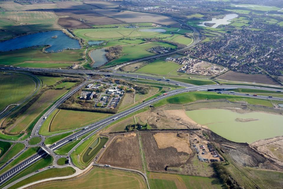 A14 motorway