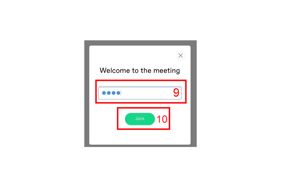 Welcome to the meeting screen