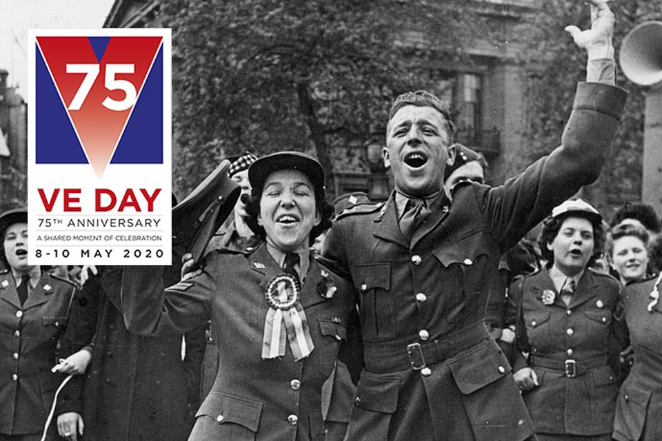 VE day celebrations.  Crown copyright. All rights reserved