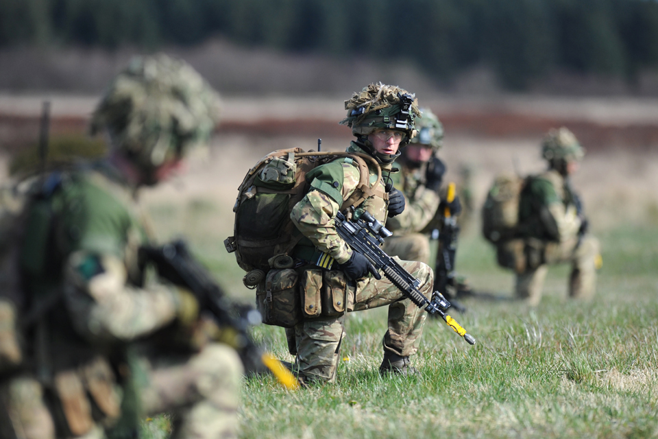 Soldiers from 16 Air Assault Brigade