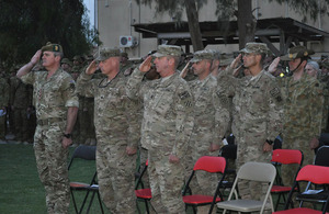 ANZAC Day commemorations at Camp Baker on Kandahar Airfield, southern Afghanistan [Picture: Crown copyright]