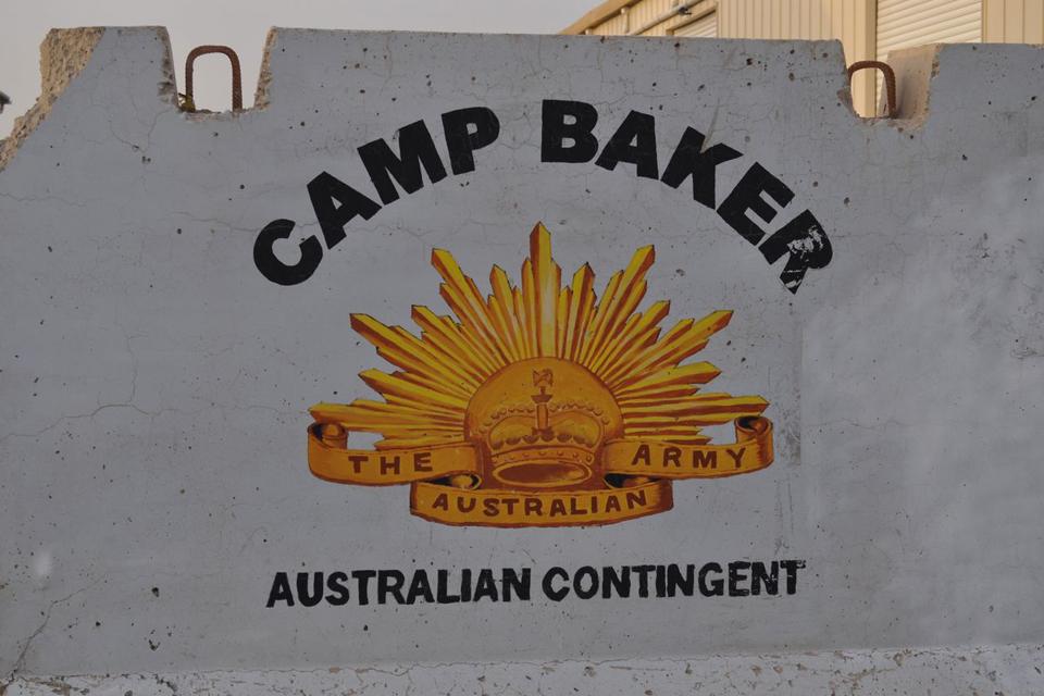 Camp Baker signage