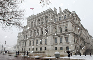 Foreign and Commonwealth Office building snow