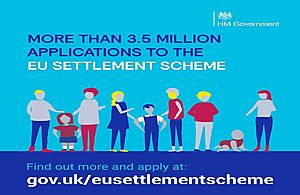 More than 3.5 million applications to the EU Settlement Scheme article