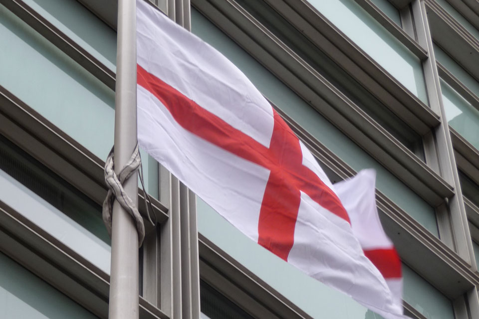 Flag of St George in front of Eland House
