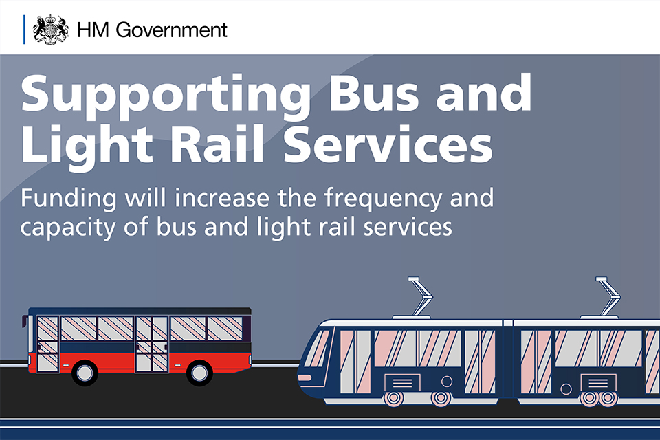 Supporting bus and light rail services: funding will increase the frequency and capacity of bus and light rail services.