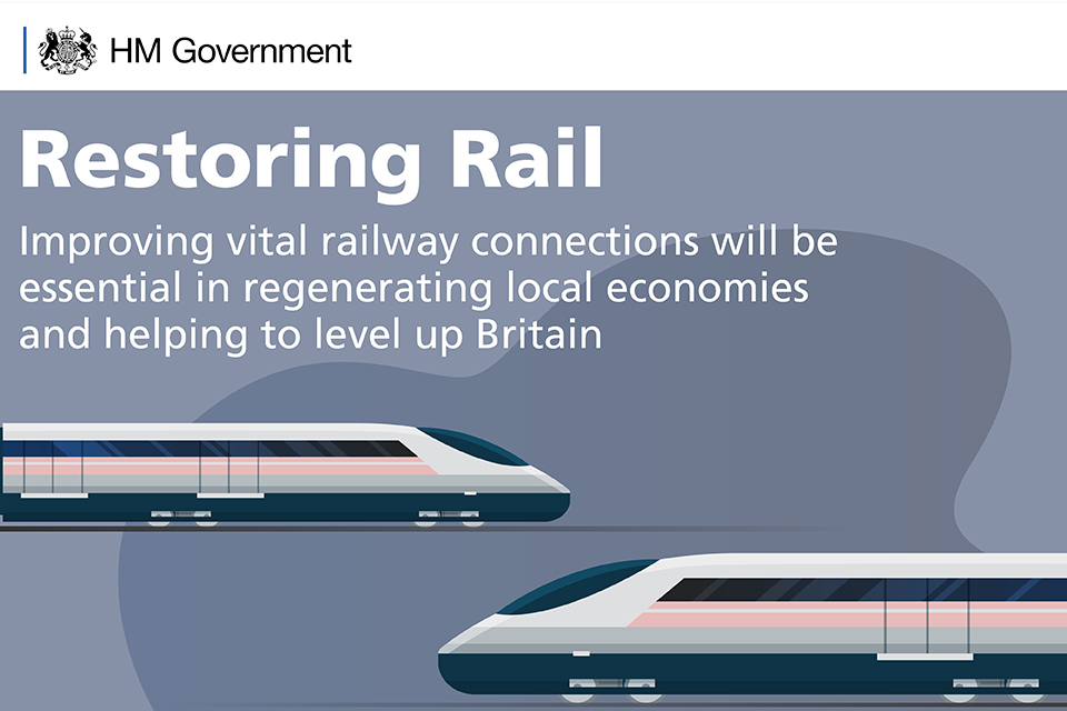 Restoring rail: improving vital railway connections will be essential in regenerating local economies and helping to level up Britain.