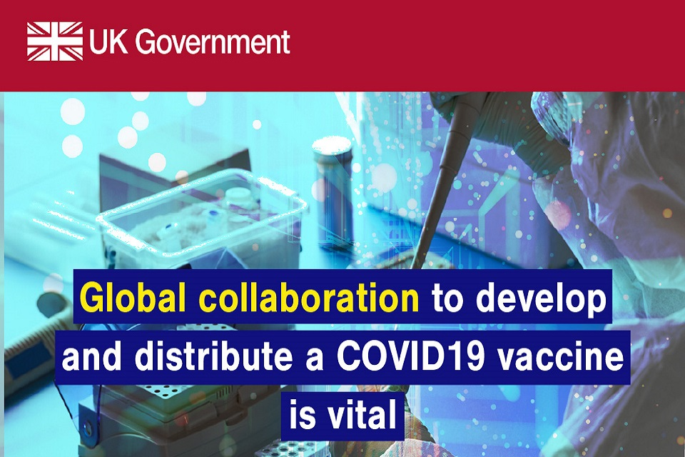 Global collaboration to develop and distribute a COVID-19 vaccine is vital