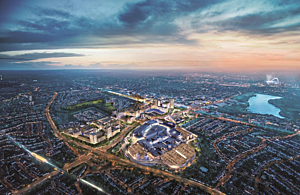 Aerial view of Brent Cross
