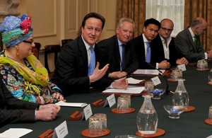 Big Society launch in the Cabinet room