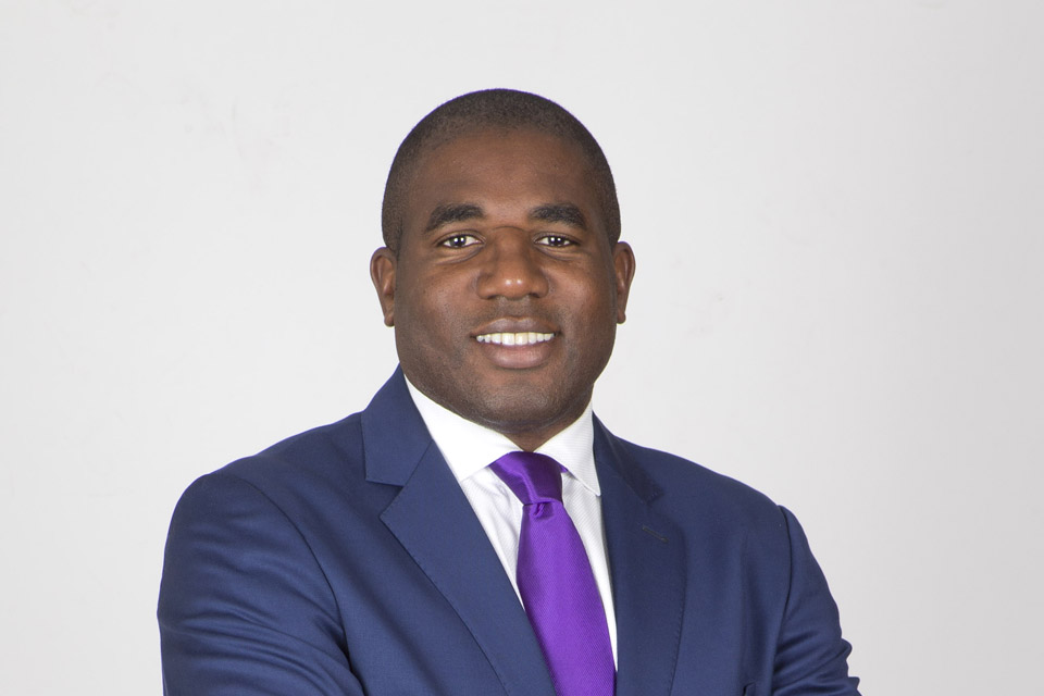 The Rt Hon David Lammy MP