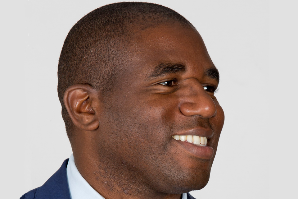 The Rt Hon Member of Parliament for Tottenham David Lammy