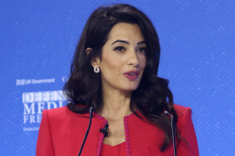 Addressing threats to media freedom: Amal Clooney's speech