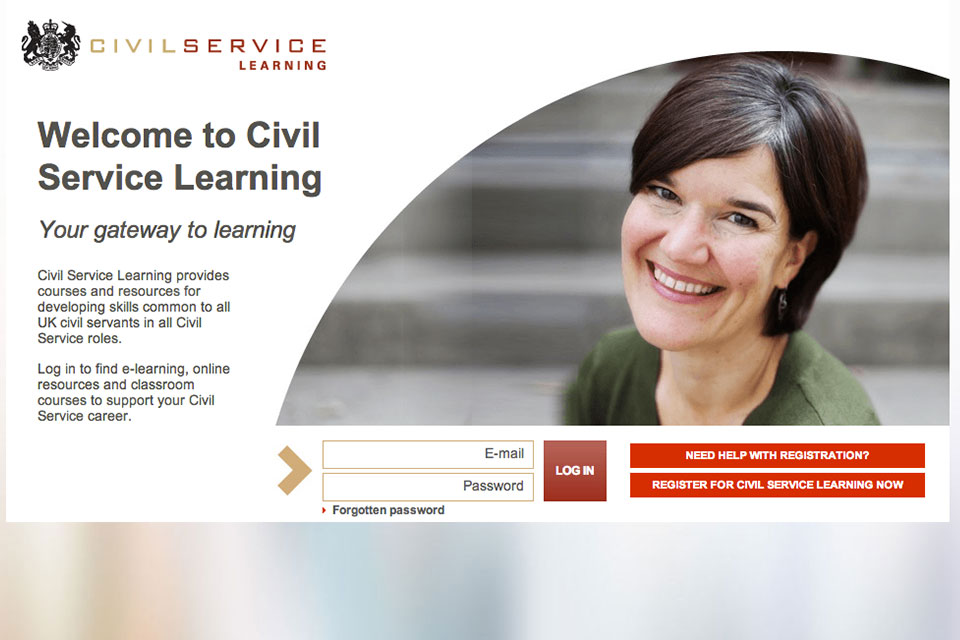 Image of the Civil Service Learning homepage