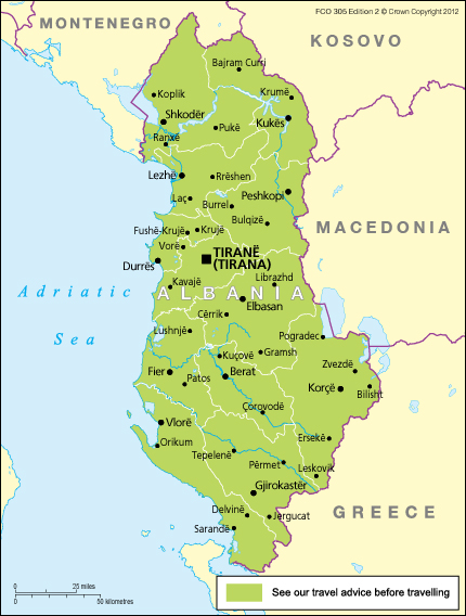 Albania Travel Advice Gov Uk