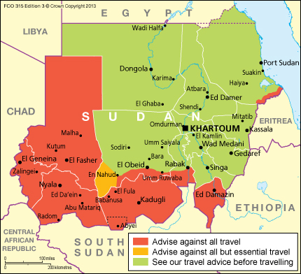Sudan travel advice gov download map pdf publicscrutiny Gallery